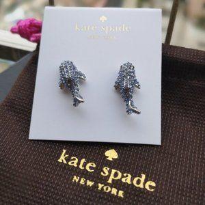 Kate Spade Blue Zircon Dolphin Earrings